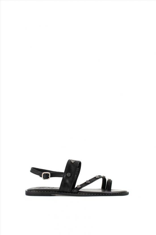 Γυναικεία Δερμάτινα Σανδάλια GAIA F9 BLACK