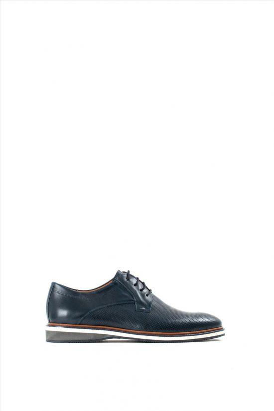 Ανδρικά Δερμάτινα Δετά Παπούτσια DAMIANI 19-01-751 BLUE