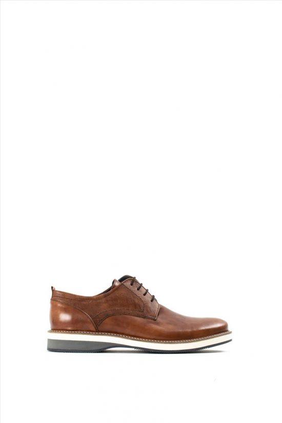 Ανδρικά Δερμάτινα Δετά Παπούτσια LA PELLE 2865/134 TABA