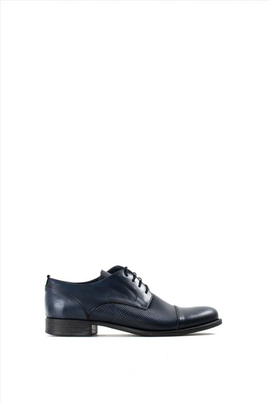 Ανδρικά Δερμάτινα Δετά Παπούτσια LA PELLE 434/151 BLUE