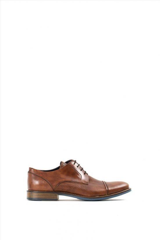 Ανδρικά Δερμάτινα Δετά Παπούτσια LA PELLE 234/132 TABA