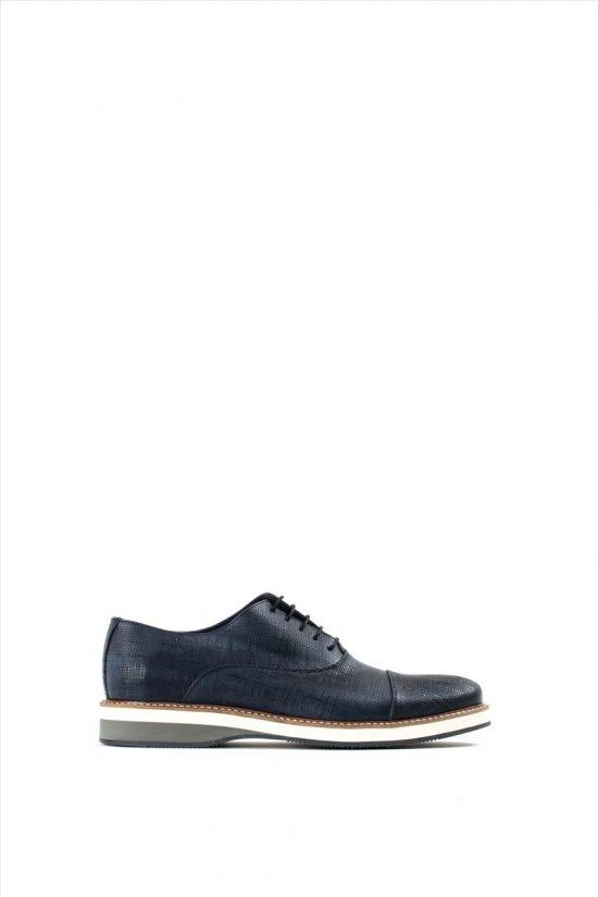 Ανδρικά Δερμάτινα Δετά Παπούτσια LA PELLE 2865/134 BLUE
