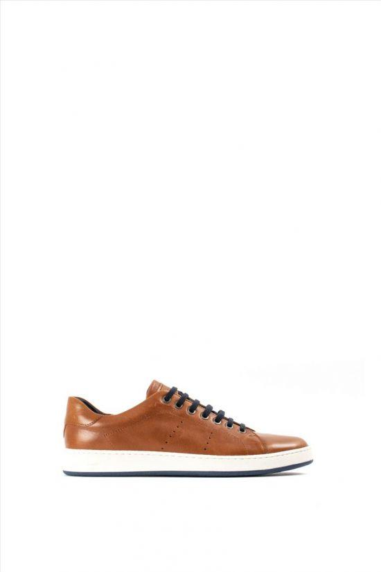 Ανδρικά Δερμάτινα Casual Shoes KRICKET 430 TABA