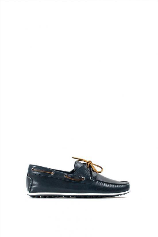 Ανδρικά Δερμάτινα Δετά Παπούτσια KRICKET 559 BLUE