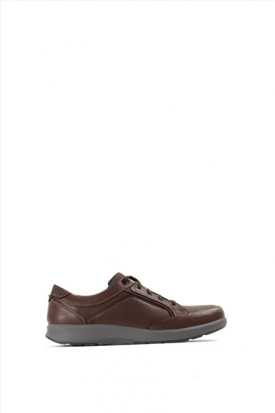 Ανδρικά Δερμάτινα Casual Shoes CLARKS UN TRAIL FORM MAHOGANY LEATHER
