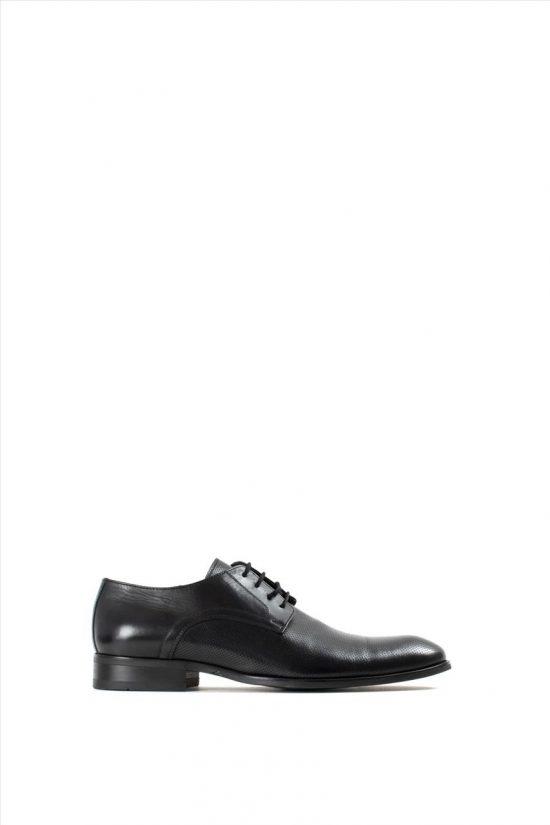 Ανδρικά Δερμάτινα Δετά Παπούτσια VICE 21144 BLACK