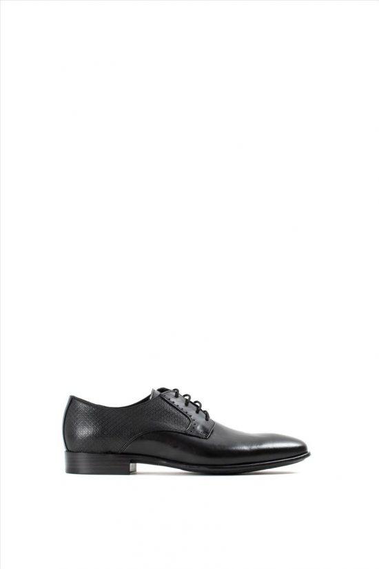 Ανδρικά Δερμάτινα Δετά Παπούτσια KRICKET 682 BLACK