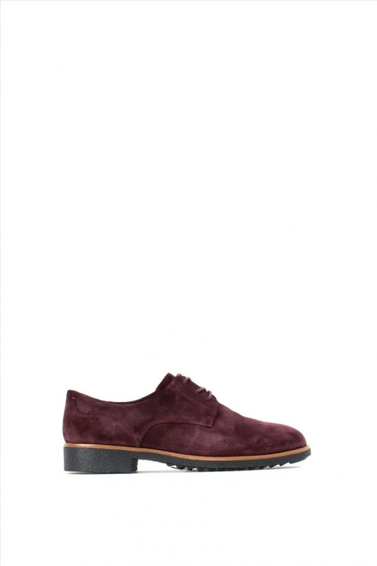 Γυναικεία Suede Oxford CLARKS GRIFFIN LANE BURGUNDY SUEDE
