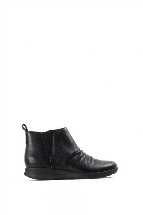 Γυναικεία Δερμάτινα Ankle Shoes CLARKS UN ADORN MID BLACK LEATHER