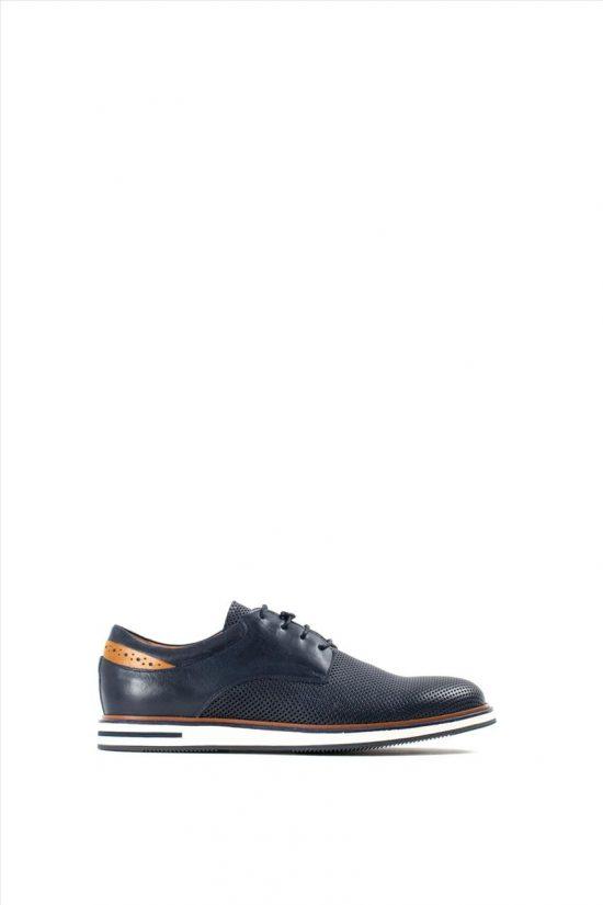 Ανδρικά Δερμάτινα Δετά Παπούτσια KRICKET 110 BLUE