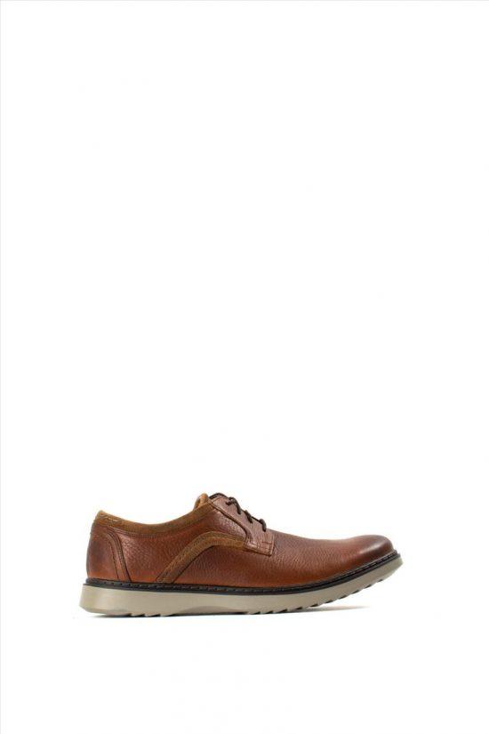 Ανδρικά Δερμάτινα Δετά Παπούτσια CLARKS UN GEO LACE DARK TAN LEA