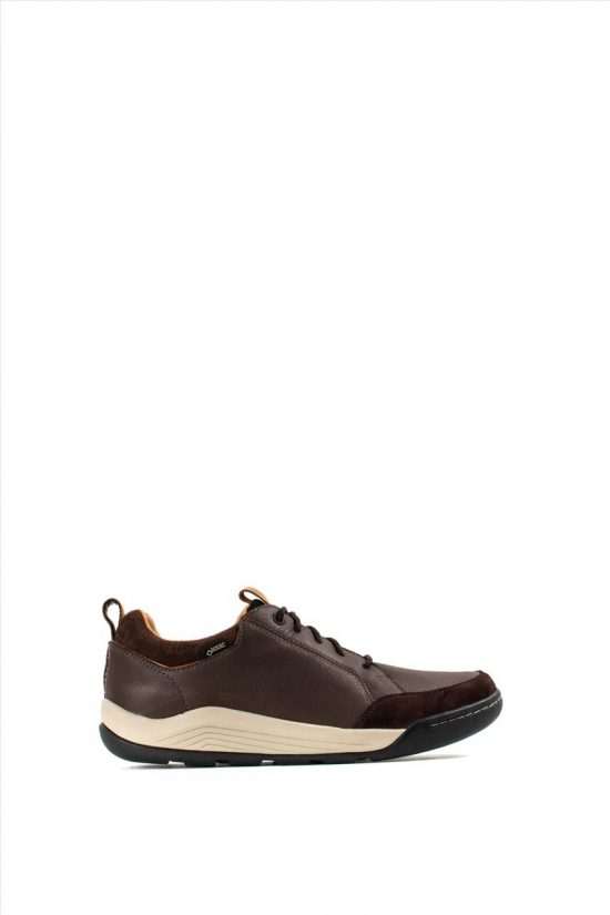 Ανδρικά Δερμάτινα Caual Shoes CLARKS ASHCOMBE BAY GTX BROWN