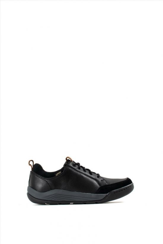 Ανδρικά Δερμάτινα Caual Shoes CLARKS ASHCOMBE BAY GTX BLACK