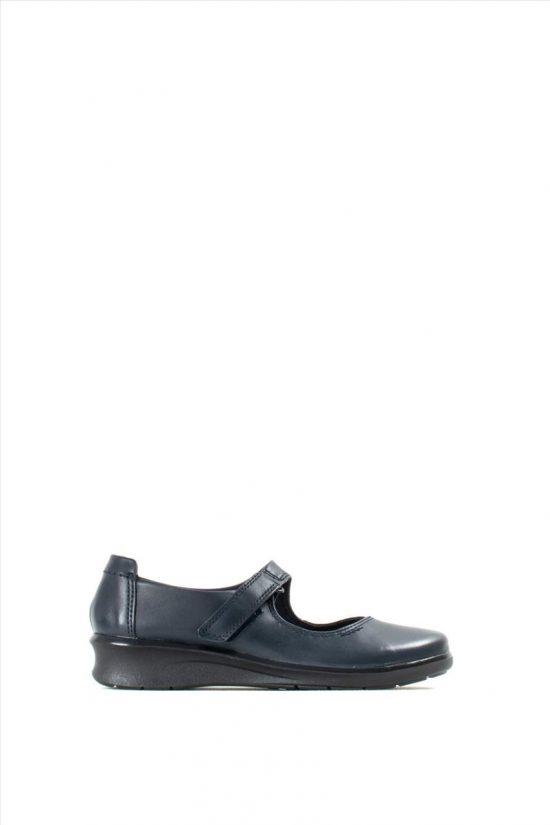 Γυναικεία Δερμάτινα Ανατομικά Παπούτσια CLARKS HOPE HENLEY NAVY LEATHER