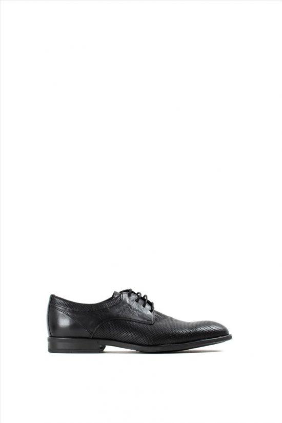 Ανδρικά Δερμάτινα Δετά Παπούτσια KRICKET 600 BLACK
