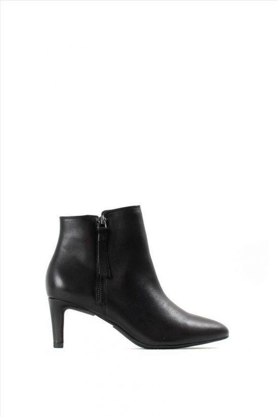 Γυναικεία Δερμάτινα Ankle Boots CLARKS CALLA BLOSSOM BLACK LEATHER