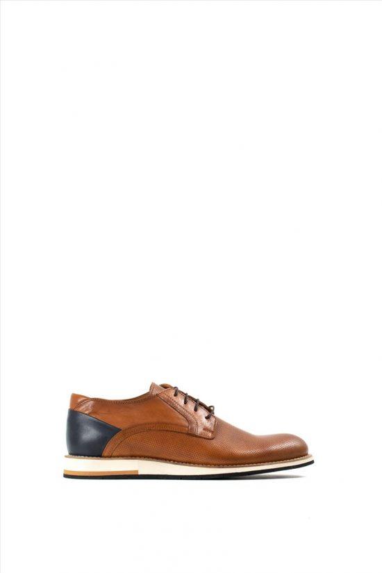 Ανδρικά Δερμάτινα Δετά Παπούτσια VICE 21340 TABA