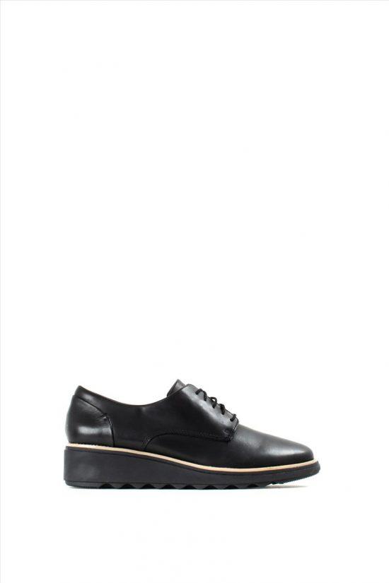 Γυναικεία Δερμάτινα Casual Shoes CLARKS SHARON NOEL BLACK LEATHER