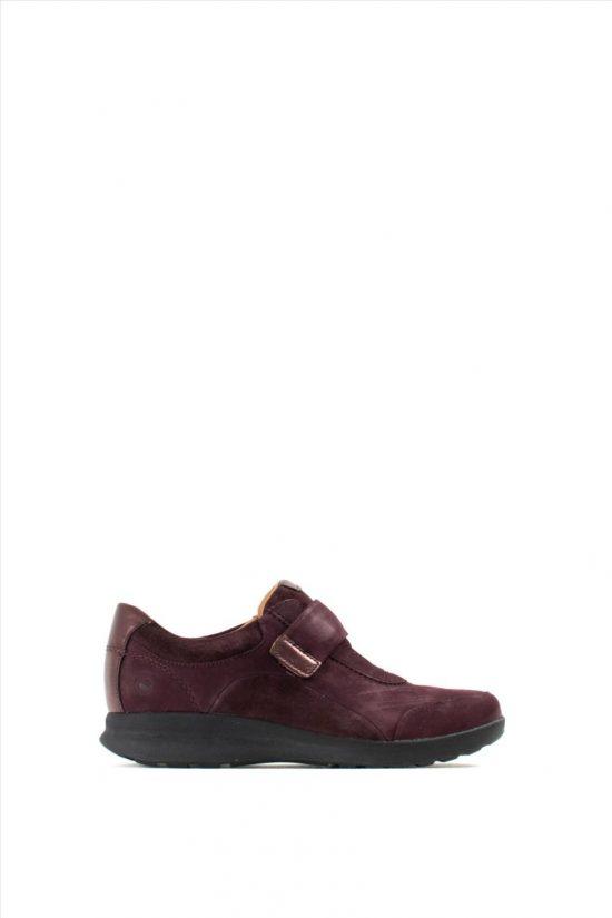 Γυναικεία Nubuck Casual Shoes CLARKS UN ADORN LO AUBERGINE COMBI