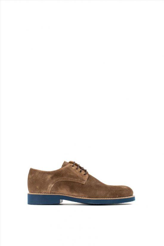 Ανδρικά Suede Δετά Παπούτσια VICE 21140 CAMEL