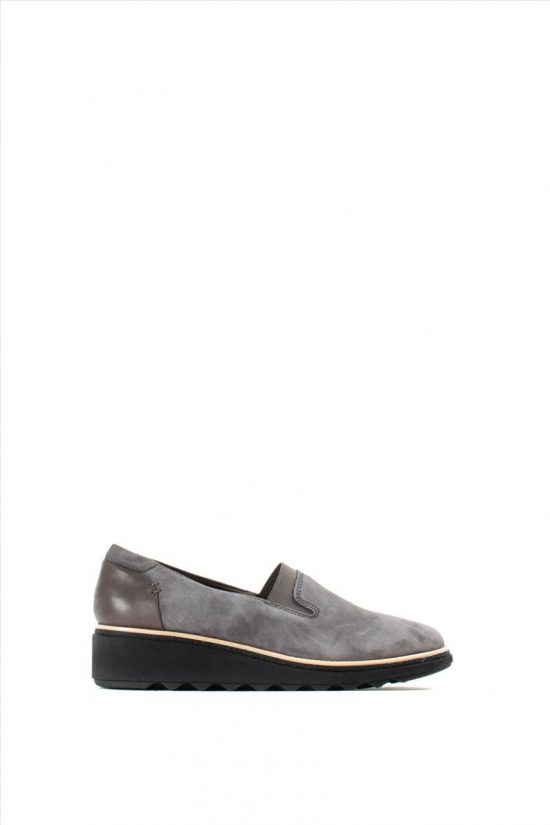 Γυναικεία Suede Loafers CLARKS SHARON DOLLY GREY SUEDE