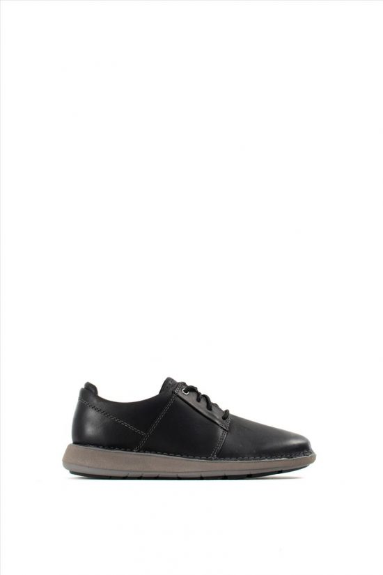 Ανδρικά Δερμάτινα Casual Shoes CLARKS UN LARVIK LACE BLACK