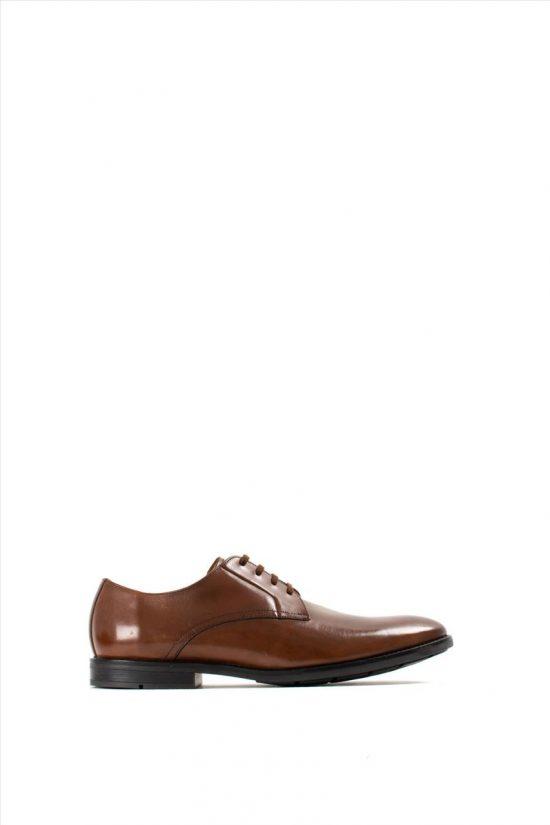 Ανδρικά Δερμάτινα Δετά Παπούτσια CLARKS RONNIE WALK BRITISH TAN LEA