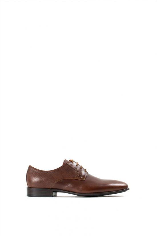 Ανδρικά Δερμάτινα Δετά Παπούτσια KRICKET 682 COGNAC