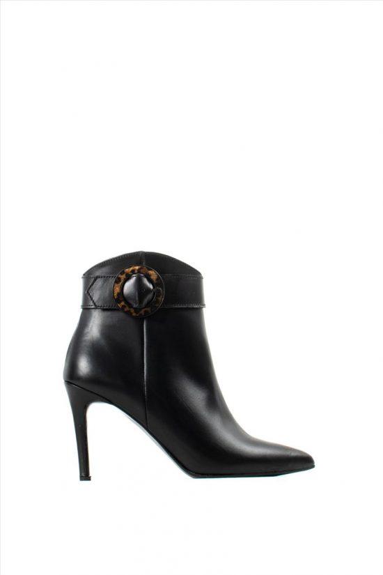 Γυναικεία Δερμάτινα Ankle Boots NEW MATIC 516 BLACK