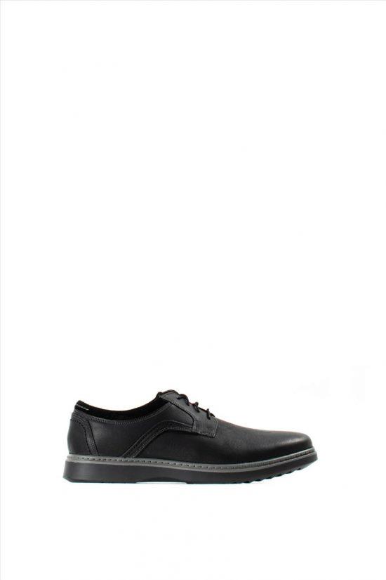 Ανδρικά Δερμάτινα Δετά Παπούτσια CLARKS UN GEO LACE BLACK