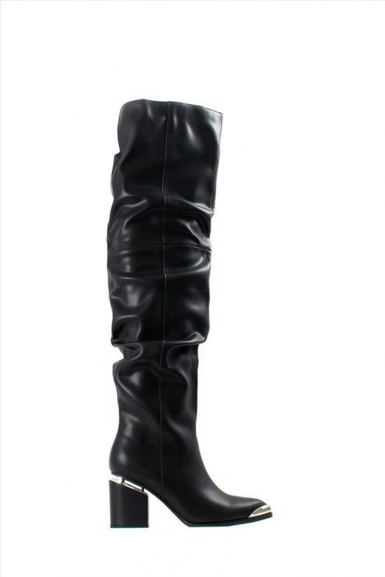 Γυναικείες Δερμάτινες Μπότες FAVELA 0116000628 BLACK