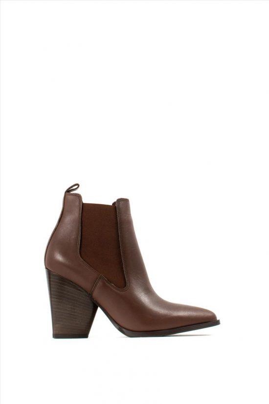 Γυναικεία Δερμάτινα Ankle Boots SANTE 19-533 BROWN