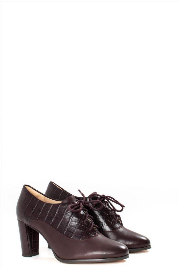 Γυναικεία Δερμάτινα Ankle Boots CLARKS KAYLIN IDA BURGUNDY COMBI