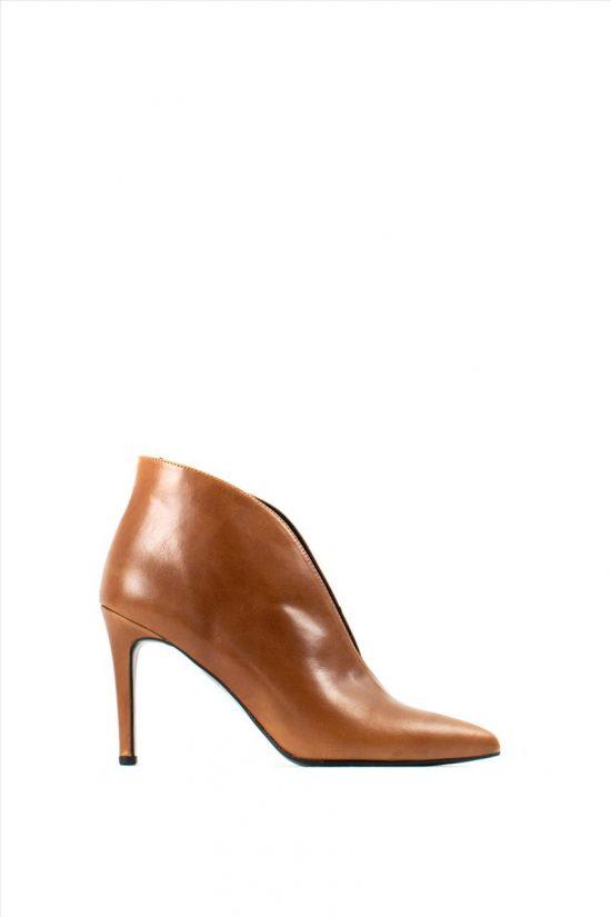 Γυναικεία Δερμάτινα Ankle Boots NEW MATIC 511 TABA