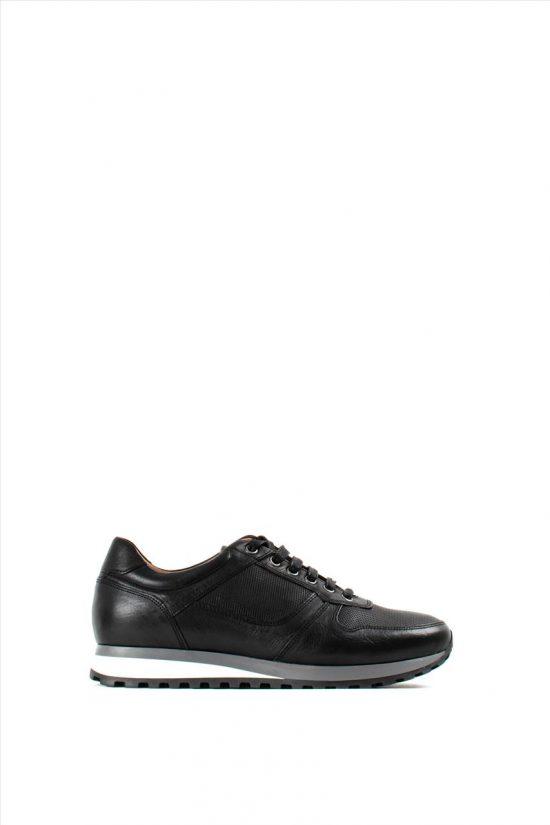 Ανδρικά Δερμάτινα Sneakers DAMIANI 20-01-480 BLACK
