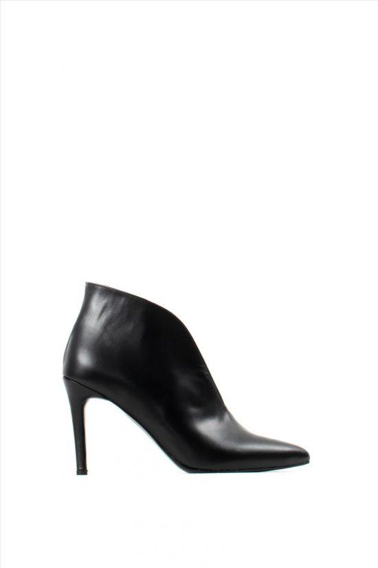 Γυναικεία Δερμάτινα Ankle Boots NEW MATIC 511 BLACK