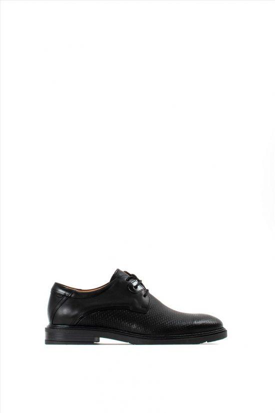 Ανδρικά Δερμάτινα Δετά Παπούτσια DAMIANI 20-01-306 BLACK