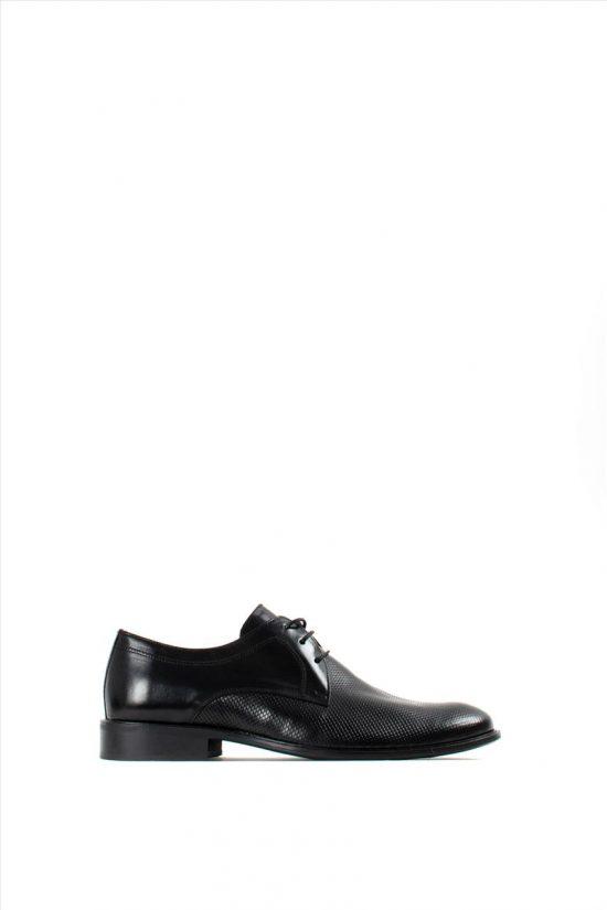Ανδρικά Δερμάτινα Δετά Παπούτσια DAMIANI 20-01-192 BLACK