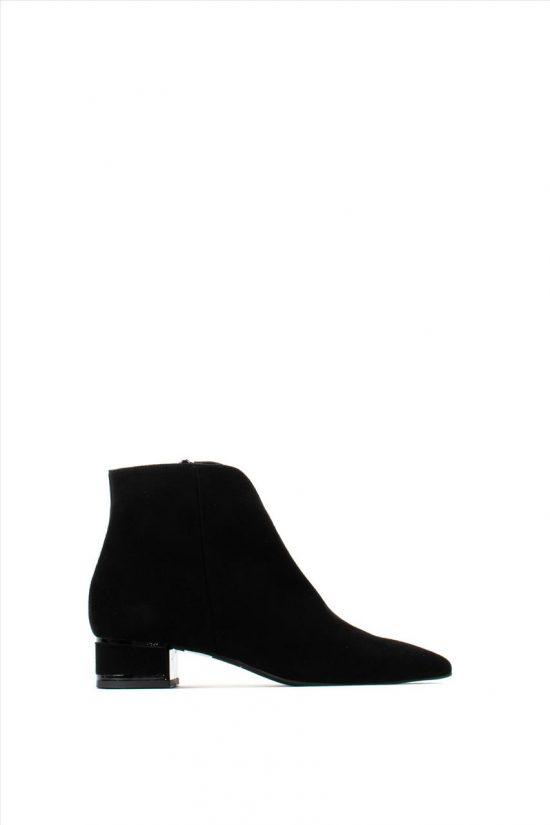 Γυναικεία Suede Ankle Boots MOURTZI 3/36112 BLACK