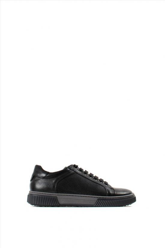 Ανδρικά Δερμάτινα Casual Shoes DAMIANI 20-01-702 BLACK