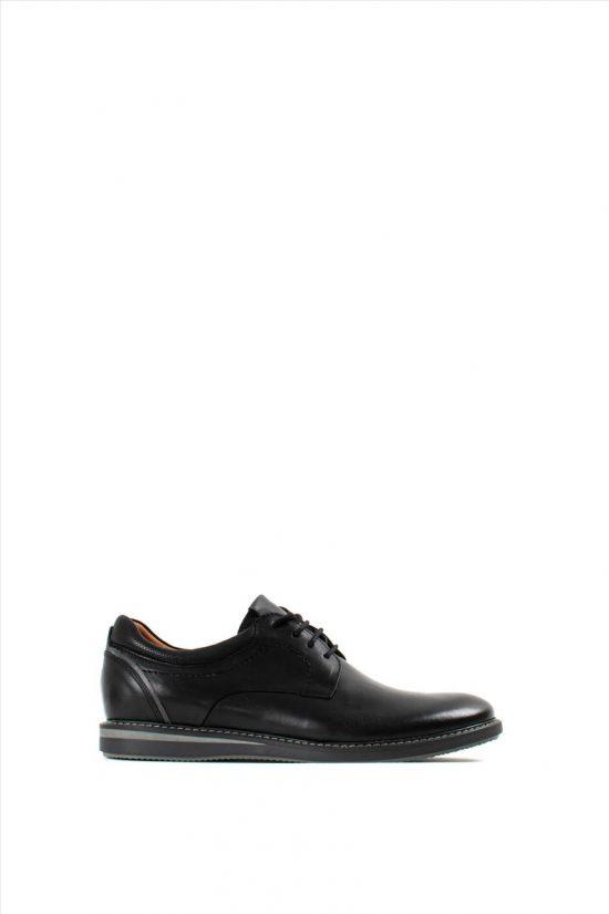 DAMIANIΑνδρικά Δερμάτινα Δετά Παπούτσια 20-01-203 BLACK