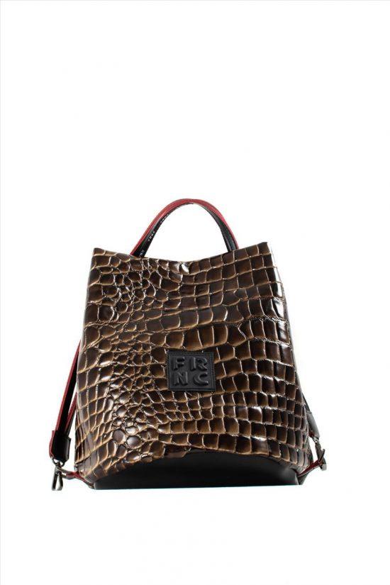 Γυναικεία Τσάντα Ώμου FRNC 1420 BROWN