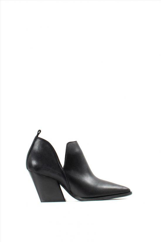 Γυναικεία Δερμάτινα Ankle Boots SANTE 19-537 BLACK