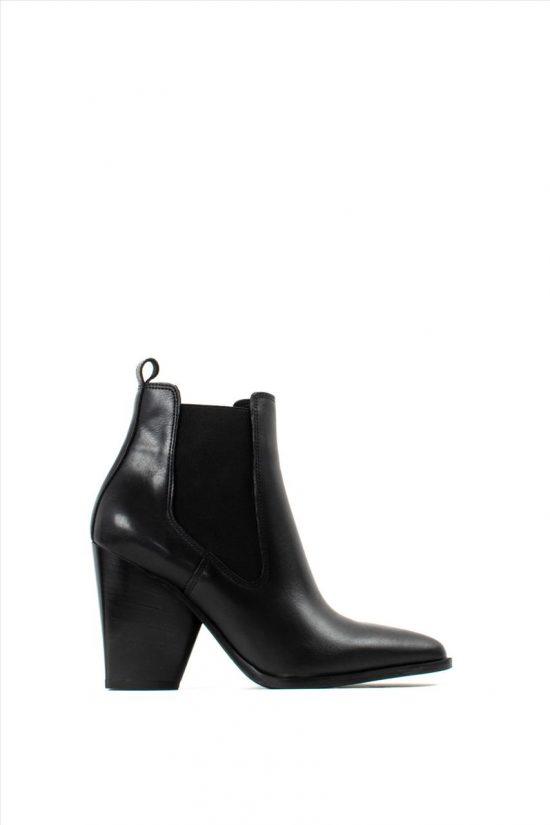 Γυναικεία Δερμάτινα Ankle Boots SANTE 19-533 BLACK