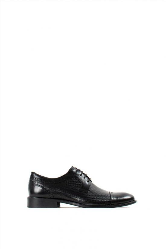 Ανδρικά Δερμάτινα Δετά Παπούτσια DAMIANI 20-01-198 BLACK