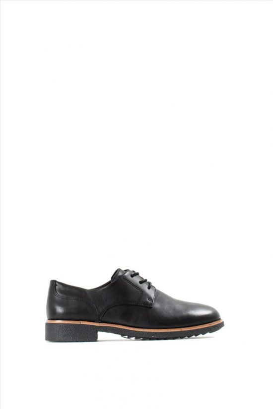 Γυναικεία Δερμάτινα Oxford CLARKS GRIFFIN LANE BLACK LEATHER