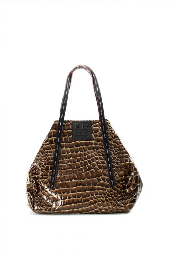 Γυναικεία Τσάντα Ώμου FRNC 1422 BROWN
