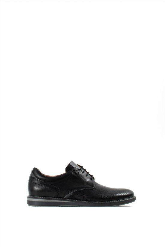 Ανδρικά Δερμάτινα Δετά Παπούτσια DAMIANI 20-01-202 BLACK