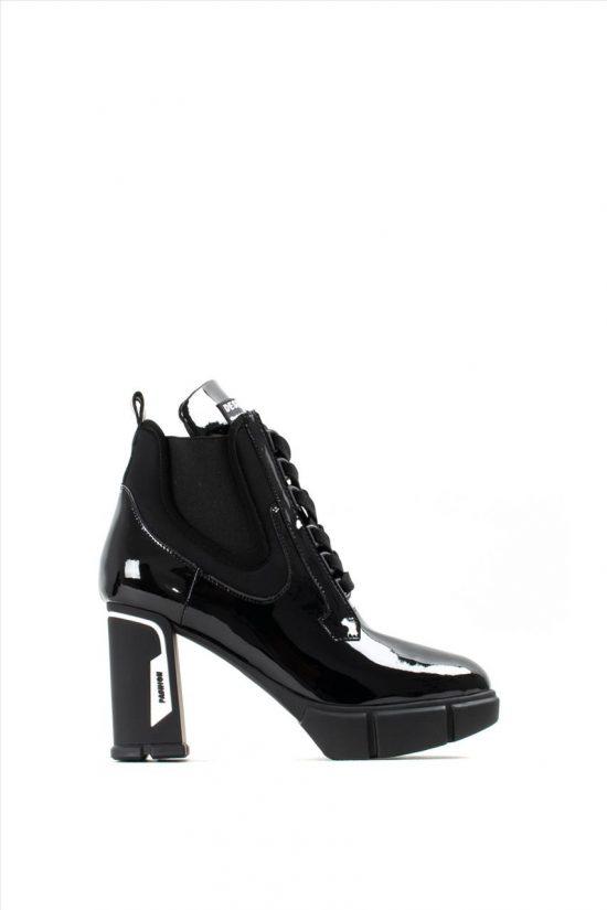 Γυναικεία Δερμάτινα Μποτάκια FAVELA 0116000608 BLACK