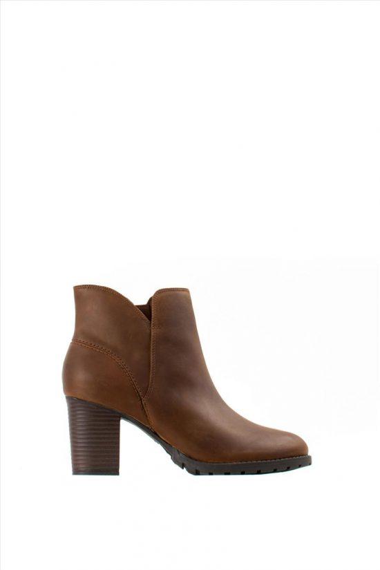 Γυναικεία Δερμάτινα Ankle Boots CLARKS VERONA TRISH DARK TAN LEA